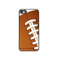 gepersonaliseerde telefoon case - rugby ontwerp metalen behuizing voor de iPhone 5 / 5s