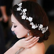 Handmade Rhinestone and Pearl Wedding Headband Headpiece