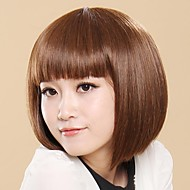 tendenza naturale ricco breve bobo luce marrone parrucche capelli lisci