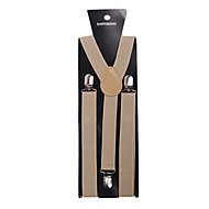 Light Brown Solid Nylon Suspender