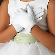 Wrist Length Fingertips Glove Satin Flower Girl Gloves