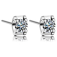 Stud Earrings Couples'/Unisex/Women's Silver Earring Cubic Zirconia