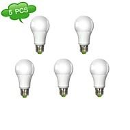 5 pcs DUXLITE E26/E27 13 W 1 COB 1320 LM Warm White A Dimmable Globe Bulbs AC 220-240 V