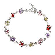 H220 925 Sterling Silber Armband, Sterlingsilber 925 Modeschmuck farbigen Stein Armband / dapalrwa ebnamsua