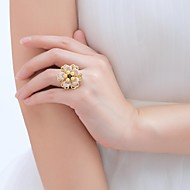 Ladies'/Women/Women's Brass Ring Pearl Brass