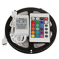 5m 300x3528 smd rgb waterdicht en 24key afstandsbediening led strip licht