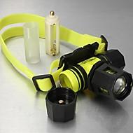 Iluminação Lanternas de Cabeça LED 1800 Lumens 3 Modo Cree XM-L T6 18650.0 Prova-de-Água / RecarregávelCampismo / Escursão /