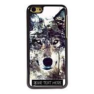 パーソナライズされた携帯電話のケース - iPhone 5cのための氷山オオカミデザインメタルケース