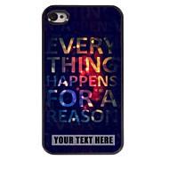 Personalized Phone Case - Elegant Design Metal Case for iPhone 4/4S