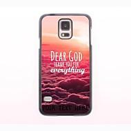 gepersonaliseerde telefoon case - dear god ontwerp metalen behuizing voor Samsung Galaxy S5 mini
