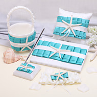 Elegant Collection Sets(Sets Of Six,Book,Pen,Flower Baskets,Placecard Holders,Ring Pillow Is Included)