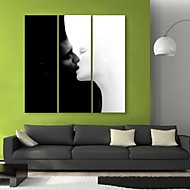 e-Home® sträckta canvas konstkyss dekorativt måleri uppsättning av 3