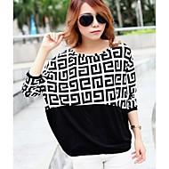 t-shirt gola redonda manga tamanho geométrica além das mulheres