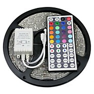 Waterproof 5M 300X5050 SMD RGB LED Strip Light with 44Key Remote Controller (DC12V)