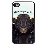 Personalized Phone Case - Cow Design Metal Case for iPhone 4/4S