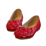 ( Svart/Rosa/Rød/Hvit ) Rund Tå - Flate sko - Semsket fuskelær - GIRL