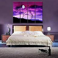 電子home®は4のツリー装飾的な絵画のセットの下でキャンバスアートを伸ばし