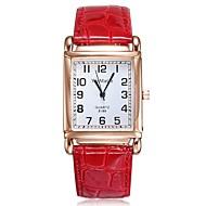 Женские Модные часы Повседневные часы Кварцевый Кожа Группа Блестящие Черный Белый Красный Коричневый