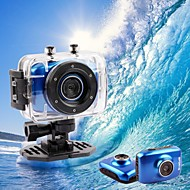 Video e fotocamera HD digitale, con supporto frontale, impermeabile, DV 1280*720 (blu)