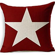 белая звезда красный хлопок / лен декоративные подушки крышки