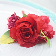 Wedding Flowers Free-form Roses Boutonnieres Wedding Party/ Evening Cotton Silk