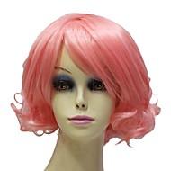 粉色 短 款 fest 假发