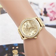 Women's Fashion Rhinestones Butterfly Steel Belt Quartz Wrist Watch(Assorted Colors) Cool Watches Unique Watches
