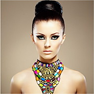 JANE STONE Women's Fashion Multicolor Resin Chunky Bib Necklace