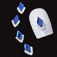 10шт синий маркиза 3d горный хрусталь поделки сплава аксессуары ногтей украшения