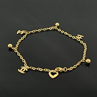 Toonykelly® Fashion Gold Women's Stainless Steel Pattern Anklet(1PC)