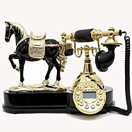 Europe Style Polyresin Material with Wooden Home Decor Telephone with ID Display,Horse Design