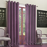 Two Panels Curtain Neoclassical , Solid Living Room Poly / Cotton Blend Material Curtains Drapes Home Decoration For Window