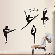 Wall Stickers Wall Decals Ballet Girl  Decorative Sticker