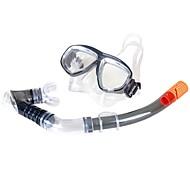 Snorkler Dykkermasker Svømmebriller Snorkelsett Vanntett Beskyttende Dykking og snorkling Glassfiber Silikon Hvit-WINMAX