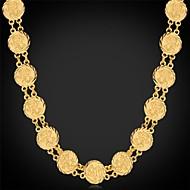 Femme Collier court /Ras-du-cou Colliers chaînes Colliers Vintage Platiné Plaqué or Mode Argent Doré Bijoux PourMariage Soirée Occasion