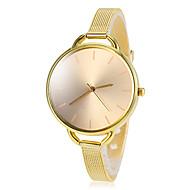 Women's Gold Round Dial Alloy Band Quartz Wrist Watch Cool Watches Unique Watches