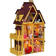 grande sonho quarto villa diy casa de bonecas de madeira, incluindo todos os kit mobiliário lâmpada 3d