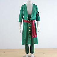 Una pieza de Roronoa Zoro Verde Poliéster cosplay