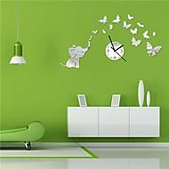 22 «fleurs d'éléphants animal cartoon h de style moderne décoration 3d bricolage miroir acrylique horloge murale