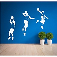 Wall Stickers Wall Decals, Contemporary Basketball Players PVC Wall Stickers(4)