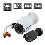 yanse® Cor IR câmera de segurança CCTV visão impermeável câmeras ao ar livre 24 levou 6624cf 1000tvl