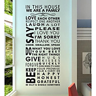 adesivi murali decalcomanie della parete, autoadesivi moderni della parete del PVC citazione regola della casa.
