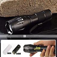 5 Modo 2000 LM CREE XM-L T6 Zoomable foco lanterna LED (18650, carregador de bateria)