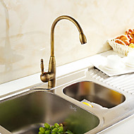 Inbouw Single Handle Een Hole with Antiek Bronzen Keuken Kraan