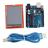 """uno r3 board modul + 2,4 """"TFT LCD touch screen skjold udvidelseskort for Arduino"""