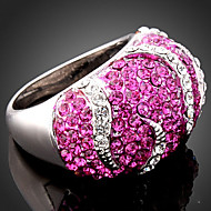 Statementringen Legering Kubieke Zirkonia imitatie Diamond Modieus Schermkleur Sieraden Feest 1 stuks