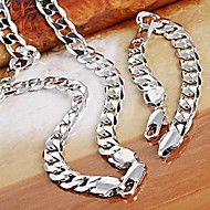 Men's/Women's Silver Jewelry Set
