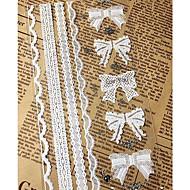 90pcs קישוטי מדבקות התחרה bowknot DIY ממתקי מתנה לחתונת מלאכת אפיית תיבת אריזת חותם תינוק מקלחת מפלגה