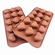 15 Loch Herzform Kuchen Eis Gelee Schokoladenformen, Silikon 21 x 10,5 x 2,5 cm (8,3 x 4,1 x 1.0inch)