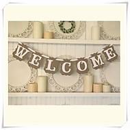 """""""bienvenida"""" signos empavesado lamentable banquete de boda elegante"""